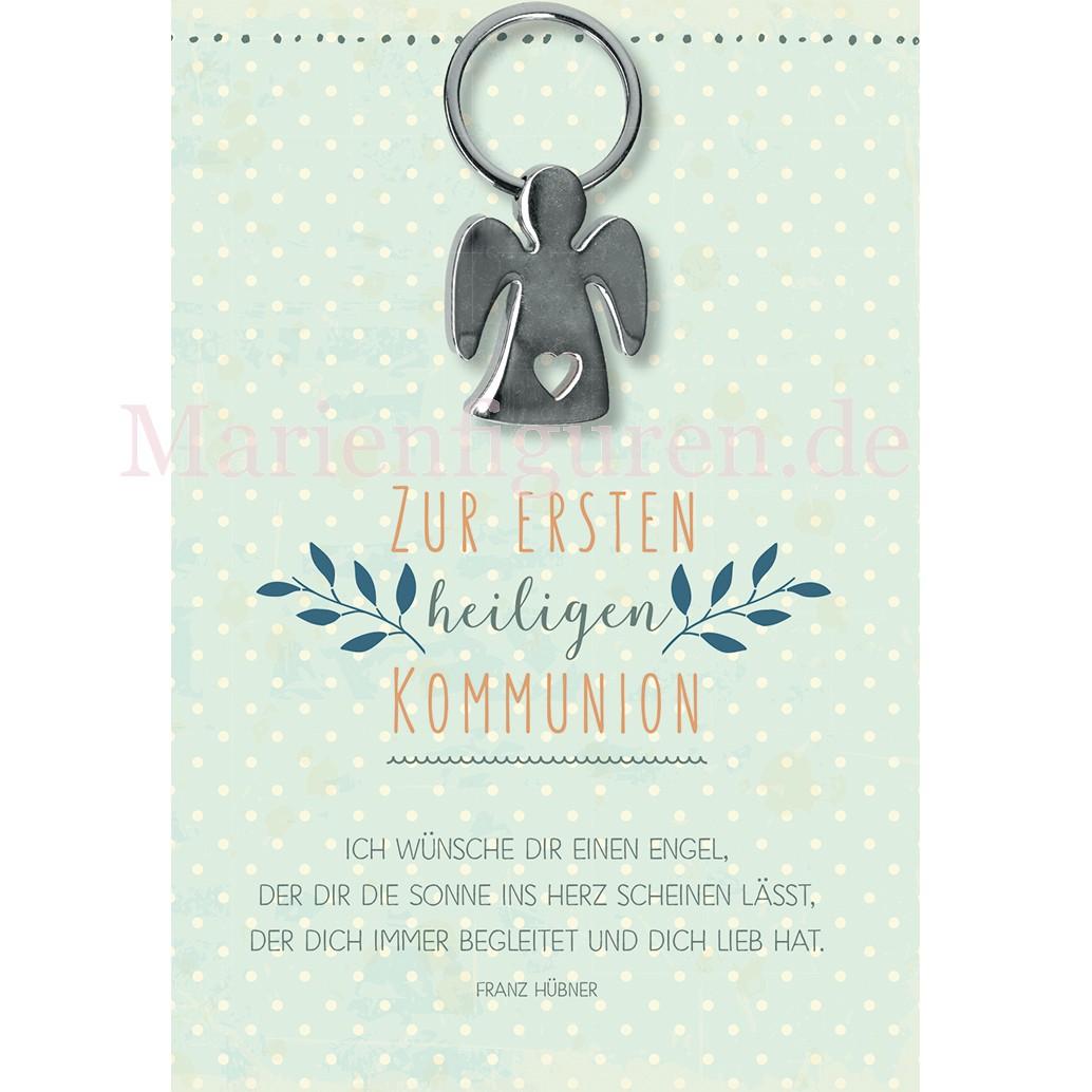 Glückwunschkarte Zur Ersten Heiligen Kommunion Mit Schutzengel