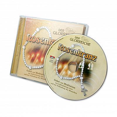 CD mit Gebetstext glorreicher Rosenkranz