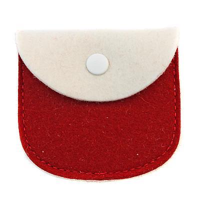 Filz Etui weiß/rot
