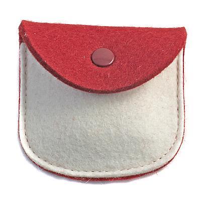 Filz Etui rot/weiß