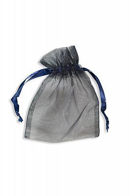 Rosenkranzbeutel aus Organza, blau (Blau)