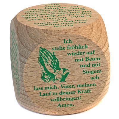 Gebetswürfel Morgengebete, grüner Text