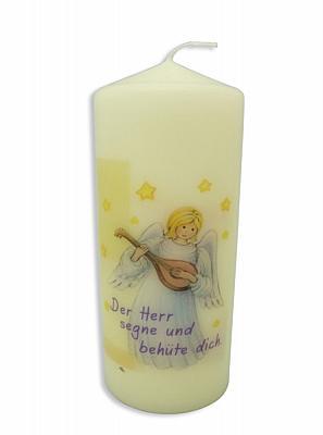Kerze 'Engel mit Mandoline'