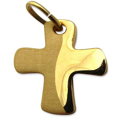 Kreuz-Anhänger, goldfarben