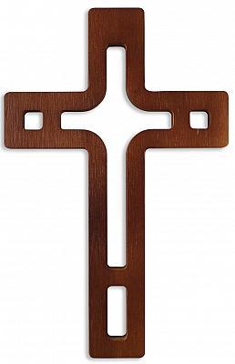 Kreuz modern gemustert, dunkel (Dunkel)