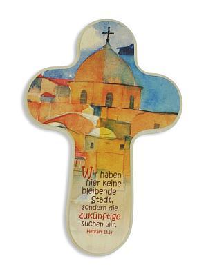 Kinderkreuz mit Spruch der Hebräer