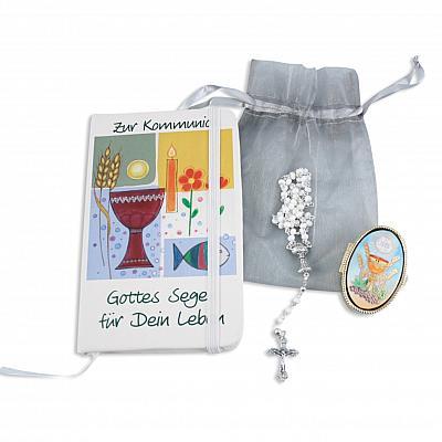 Kommunionset 'Rosenkranz', weiß (Weiß)