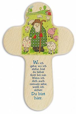 Kinderkreuz 'Hirte mit Schafen'