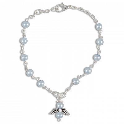 Armband 'Schutzengel', hellblau