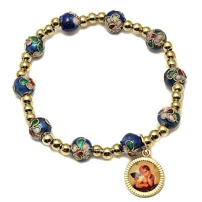 Armband Cloisonne 'Raphael', blau