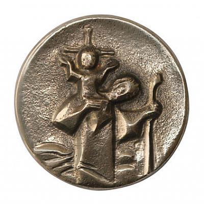 Autoplakette Christophorus, Bronze
