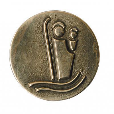 Autoplakette Christophorus schlicht, Bronze