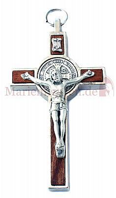 Benediktuskreuz mit Holzeinlage