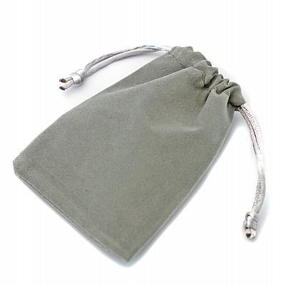 Rosenkranzbeutel Velourimitat, grau (Grau)