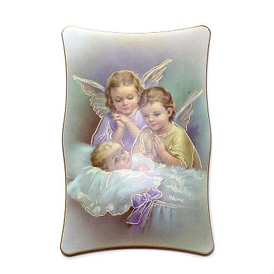Bild Schutzengel behüten Baby