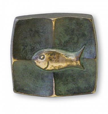 Kunst-Bronzetafel 'Fisch'