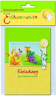 Einladungskarten zur Erstkommunion 'Kelch'