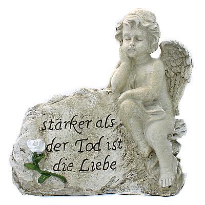 Engel am Stein 'Liebe ist stärker', rechts (rechts, 26 cm)