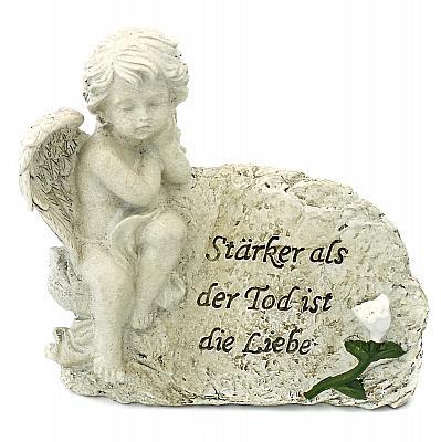 Grabschmuck 'Stärker als der Tod ist die Liebe', links (links, 14 cm)
