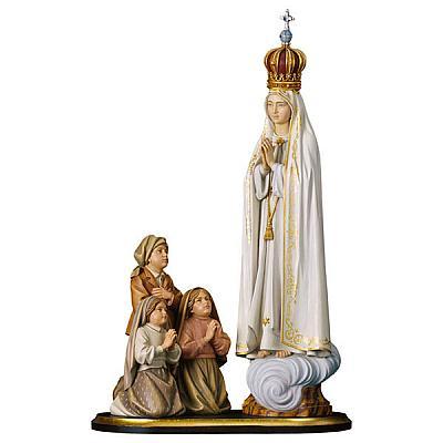Erscheinungsgruppe Fatima mit Krone, Holz