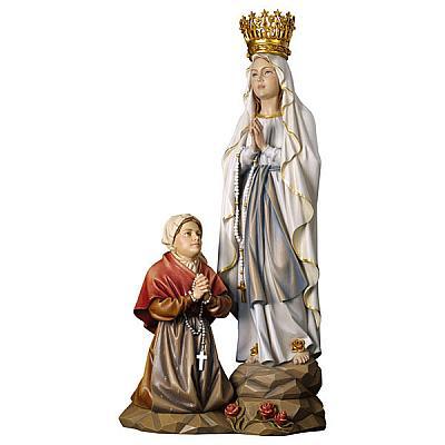 Erscheinungsgruppe Lourdes mit Krone, Holz