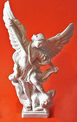 Erzengel Michael, Alabaster 23 cm