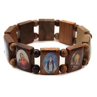 Escapulario aus Holz lackiert 10 Heilige