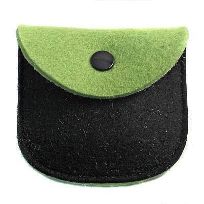 Filz Etui grün/schwarz