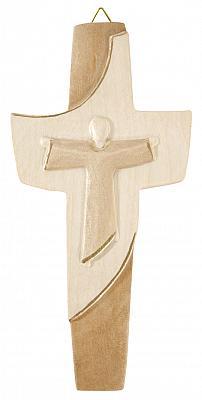 Holzkreuz 'Franziskus', mehrton gebeizt (Mehrton gebeizt)