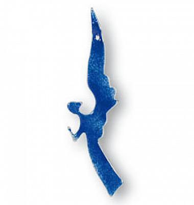 Glasengel 'Bote des Himmels', blau (Blau)
