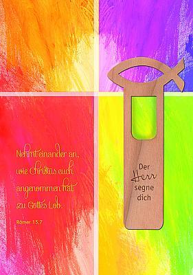 Glückwunschkarte 'Nehmet einander an' mit Lesezeichen