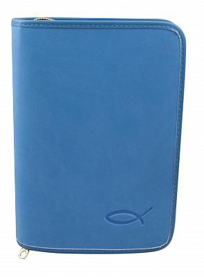 Gotteslobhülle mit Fischsymbol, hellblau (Hellblau)