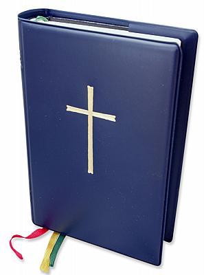Gotteslob-Umschlaghülle mit Kreuz, dunkelblau (Dunkelblau)