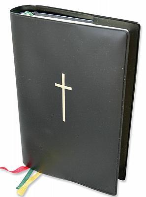 Gotteslob-Umschlaghülle mit Kreuz einfach, schwarz (Schwarz)