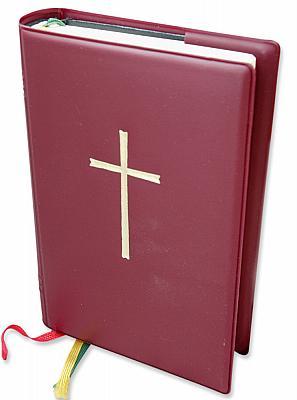 Gotteslob-Umschlaghülle mit Kreuz, weinrot (Weinrot)