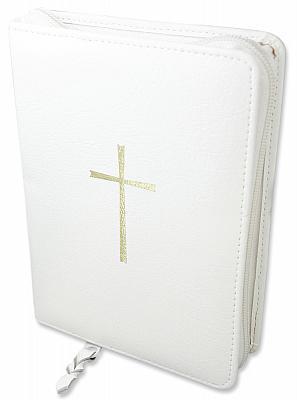 Gotteslobhülle mit Kreuz, weiß (Weiß)