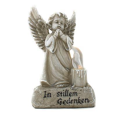 Grabschmuck betender Engel mit LED-Kerze