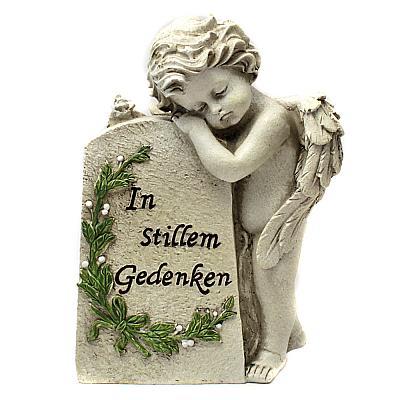 Grabschmuck trauernder Engel 'Im stillem Gedenken'