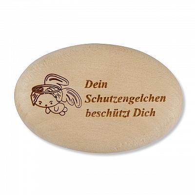 Handschmeichler 'Dein Schutzengelchen beschützt Dich', Holz