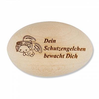 Handschmeichler 'Dein Schutzengelchen bewacht Dich', Holz