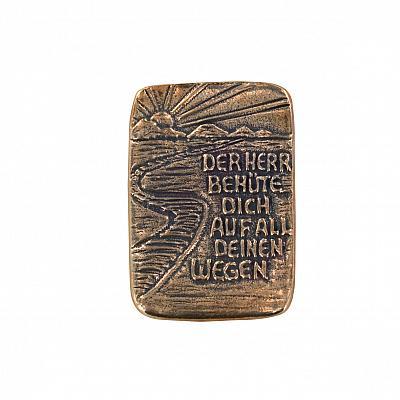 Handschmeichler 'Der Herr behüte Dich', Bronze