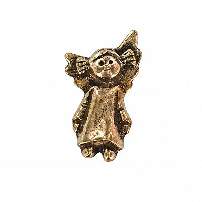 Handschmeichler 'Engel Mädchen', Bronze