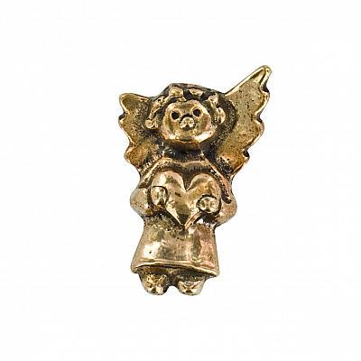 Handschmeichler 'Engel mit Herz', Bronze