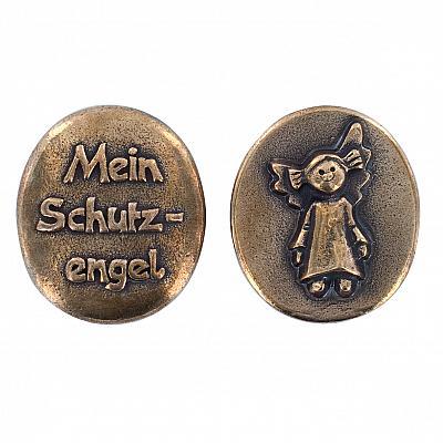 Handschmeichler 'Mein Schutzengel', Bronze