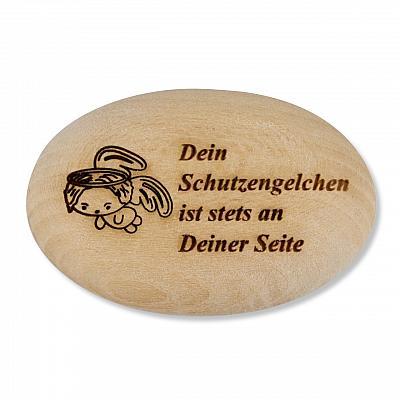Handschmeichler 'Dein Schutzengelchen ist stets an Deiner Seite', Holz