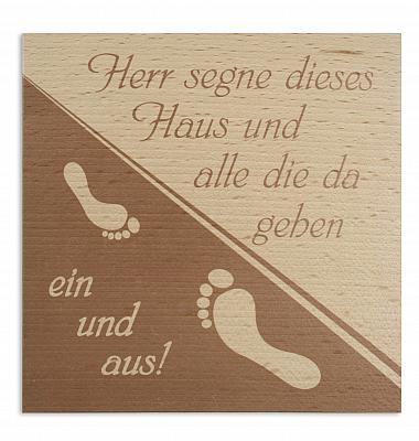 Haussegen 'Fußabdruck', Buche