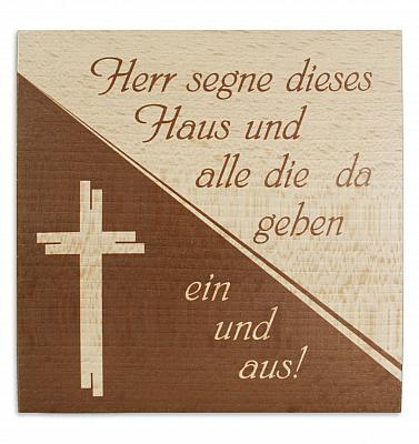 Haussegen 'Kreuz', Buche