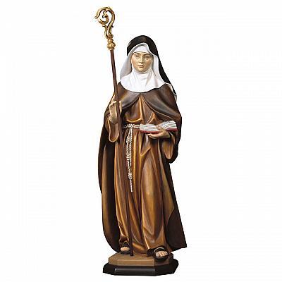 Heilige Adelgunde von Maubeuge mit Bischofsstab, Holz
