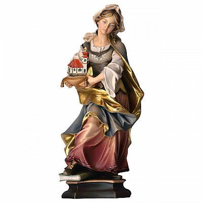 Heilige Agnes von Rom mit Lamm, Holz