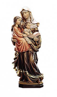 Heilige Anna selbdritt, Holz